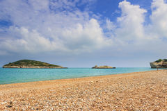 Apulia coast.Gargano National Park: Baia di Campi beach,Vieste-ITALY- Stock Photography