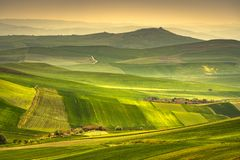 Apulia countryside view rolling hills landscape. Poggiorsini, It stock images