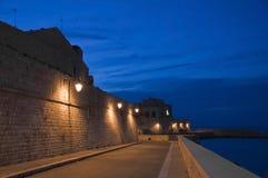 apulia dusk giovinazzo seafront Στοκ φωτογραφίες με δικαίωμα ελεύθερης χρήσης