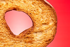 apulian δαχτυλίδι frisella κινηματογραφήσεων σε πρώτο πλάνο ψωμιού Στοκ εικόνα με δικαίωμα ελεύθερης χρήσης