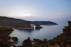 Apulian Gargano kust royaltyfria bilder