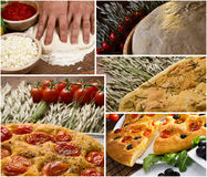 Apulian italian focaccia images Royalty Free Stock Photography