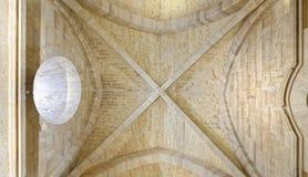 Apulien, Italien: historische Castel del Monte-Decke lizenzfreies stockbild