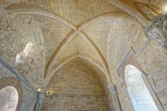 Apulien, Italien: historische Castel del Monte-Decke lizenzfreies stockfoto