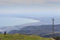 Apulien: zwischen Meer und Land zwischen Landschaft und Stadt Stockfotografie