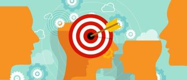 Apuntando la mente principal del cliente coloque el negocio del concepto del márketing del mercado de blanco libre illustration