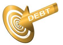 Apunte la deuda. Imágenes de archivo libres de regalías