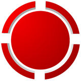 Apunte la marca, retículo, icono del retículo para el foco, exactitud, blanco stock de ilustración