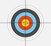 Apunte para el tiro al arco, ballesta, en el fondo blanco Ejemplo del vector para sus diseños stock de ilustración