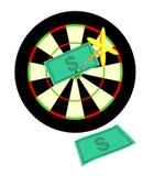 Apunte un dólar de la flecha stock de ilustración