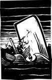 Apuro de la pesca de ballenas Imágenes de archivo libres de regalías