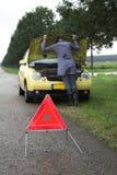 Apuro del coche Imagen de archivo libre de regalías