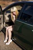Apuro del coche Fotografía de archivo