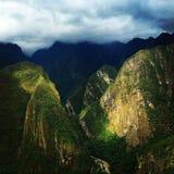 Apus av Macchu Picchu Royaltyfria Foton