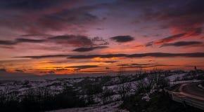 Apus de iarna Στοκ Εικόνα