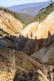 从Apuseni山的Ruginoasa坑,罗马尼亚 库存图片