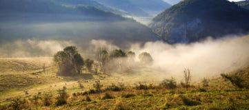 Apuseni mountains, Romania - misty autumn morning Royalty Free Stock Image