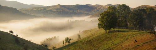 Apuseni mountains, Romania - misty autumn morning Stock Photo