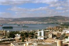 Aqaba and Eilat, Jordan Stock Image
