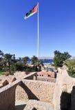 Aqaba fort i Aqaba, södra Jordanien Arkivbild