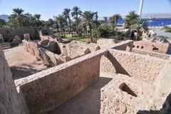 Aqaba fort i Aqaba, södra Jordanien Royaltyfri Foto