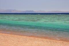 Aqaba-Golf zwischen Ägypten und Saudi-Arabien. Stockfotos
