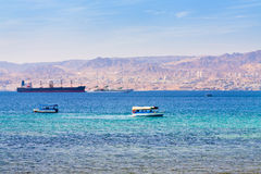 Free Aqaba Gulf And View On Israel Town Eilat Stock Photos - 24521303