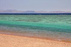 Aqaba gulf between Egypt and Saudi Arabia. Stock Photos