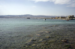 The Aqaba gulf seen from the Jordan coast Royalty Free Stock Image