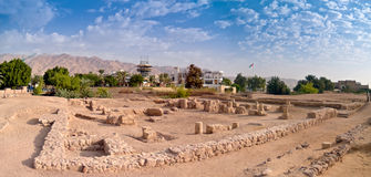 Aqaba in Jordan. Nabatean and Roman time ruins Royalty Free Stock Images