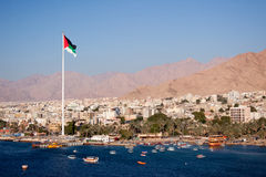 Aqaba in Jordanië Stock Foto