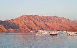 Aqaba, Jordanië, bij dageraad Stock Foto