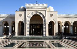 Aqaba Mosque. This mosque built in the city of Aqaba, Jordan, using arches, domes and decoration stock images