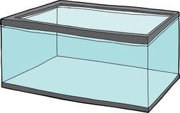 Aquário completamente da água ilustração stock