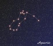 Aquário da constelação ilustração royalty free