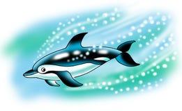 Aquário do oceano do mar da natação do golfinho inteligente ilustração do vetor