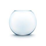 Aquário liso de vidro transparente azul de Fishbowl ilustração stock