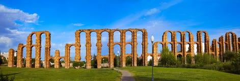 Aquädukt Acueducto Los Milagros Merida Badajoz Lizenzfreie Stockfotos