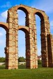 Aquädukt Acueducto Los Milagros Merida Badajoz Stockbilder