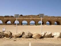 Aquädukt in Cesarea Stockfoto