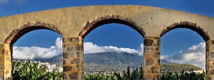 Aquädukt am La Palma, Kanarische Inseln lizenzfreie stockbilder