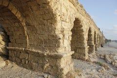 Aquädukt-Panorama Caesarea-Maritima Stockbild