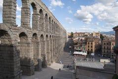 Aquädukt in Segovia lizenzfreies stockbild