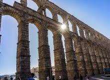 Aquädukt in Segovia Spanien Stockfoto