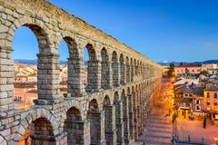 Aquädukt Segovias Spanien Stockbild