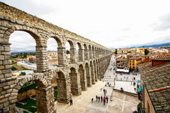 Aquädukt von Segovia Lizenzfreie Stockfotografie