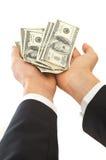 Aquí está su dinero Imagen de archivo libre de regalías
