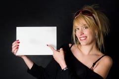 Aquí está su mensaje Imagen de archivo libre de regalías