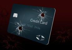 Aquí está una tarjeta de crédito que parece el vidrio quebrado y se puede utilizar para ilustrar muchos temas relacionados con la stock de ilustración