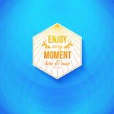 Aquí y ahora disfrute de cada momento. Foto de archivo libre de regalías